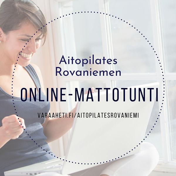 Aitopilates Rovaniemi online mattotunnit