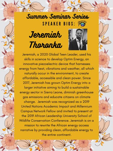 Jeremiah Thoronka - Optim Energy
