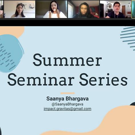 Week 1: Saanya Bhargava