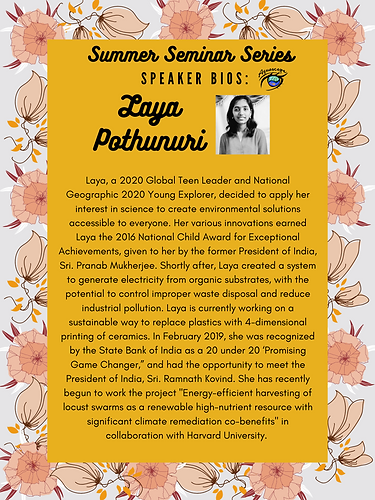 Laya Pothunuri - Sustainable Solutions