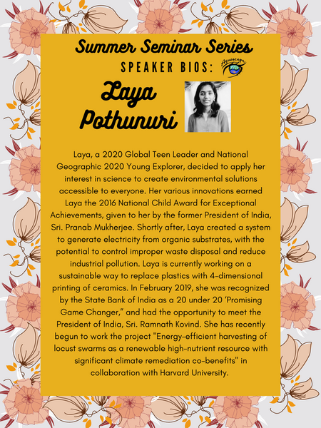 Laya Pothunuri - Sustainable Solutions