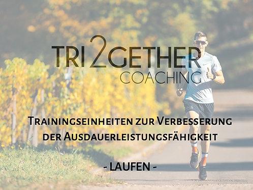 Trainingsplan Laufen - Verbesserung der Ausdauerleistungsfähigkeit