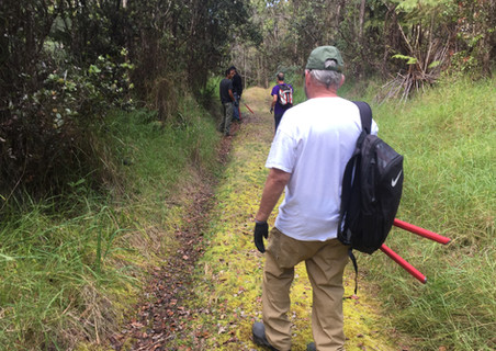 a program outing to The Nature Conservancy's Kona Hema Preserve