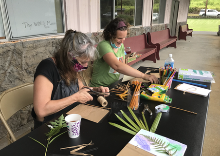 nature journal project at Na'alehu Community Garden