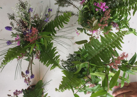 making floral arrangements in spring