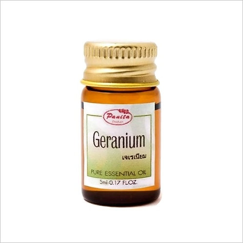 Geranium Essential Oil 5 ml 100% Pure and Natural Free Shipping
