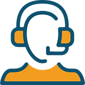 An IT person wearing a headset