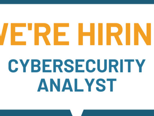 Now Hiring: Cybersecurity Analyst (Contract)