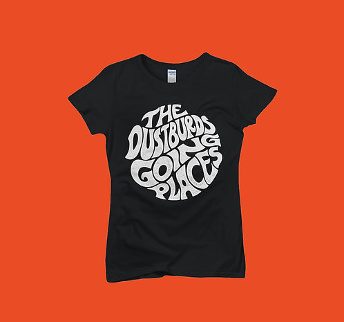 """Ladies T-Shirt """"The Dustburds going places"""""""