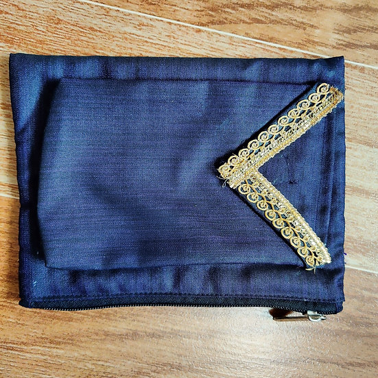 Blue & Gold Multipurpose zip pouch