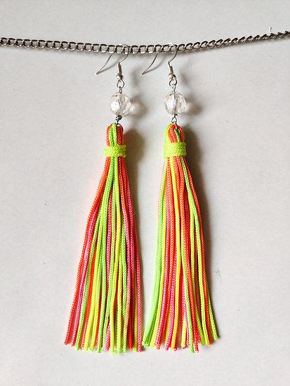 Neon Tassel Earring
