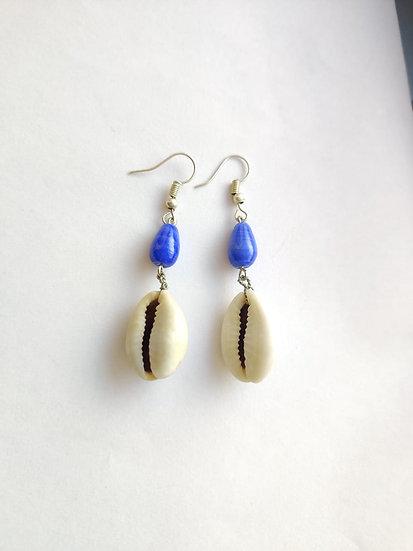 Ocean Cowrie Earring