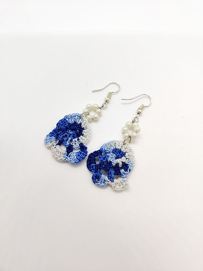 Blue Shaded Crochet