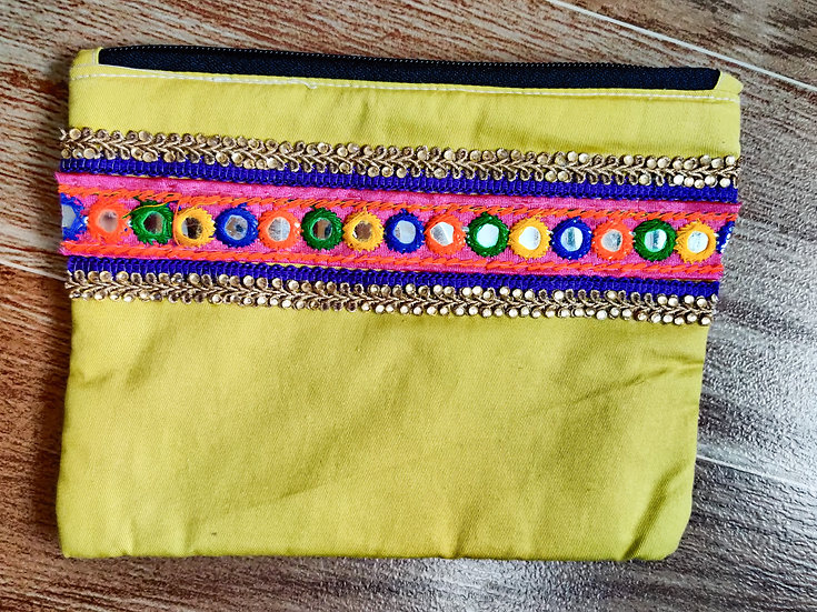 Multipurpose mirror work zip pouch