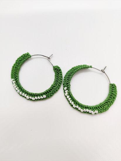 Green Crochet hoops