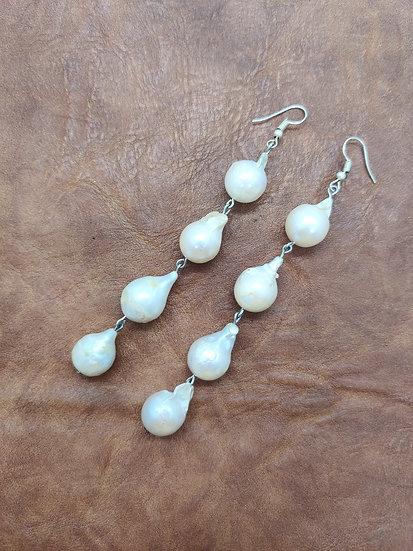 Raw Pearls Danglers