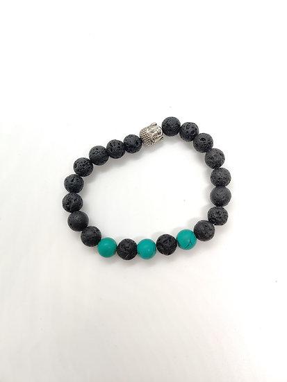 Lava Bead & Turquoise