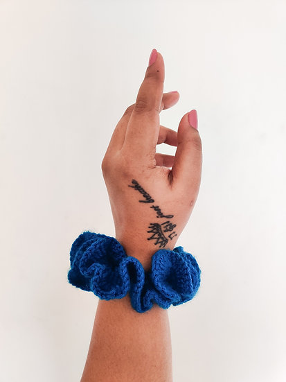 Blue Srunchie