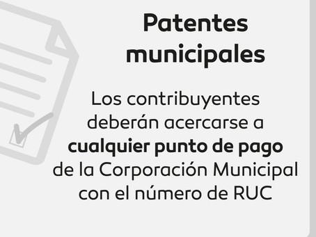 Anexo de reporte de información sobre bienes, patentes municipales, espectáculos públicos.