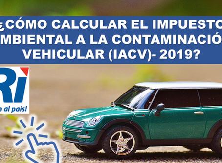 Exoneración del Impuesto Ambiental a la Contaminación Vehicular (IACV).