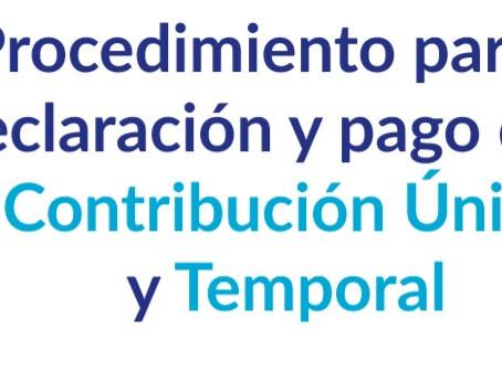 Contribución Única y Temporal según la Ley Orgánica de Simplificación y Progresividad