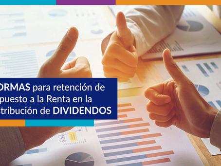 Normas para la retención del impuesto a la renta en la distribución de dividendos.