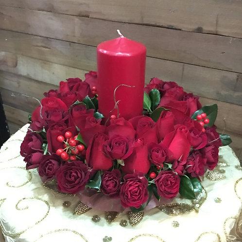 Table Wreath - Sandy