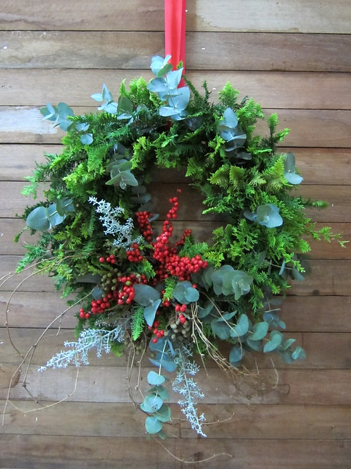 Door Wreath - Holly