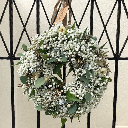 Door Wreath - Baby's Breath (Real)