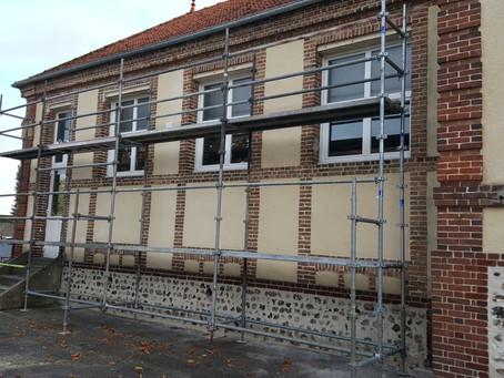 Réfection des façades de la mairie et de l'école primaire