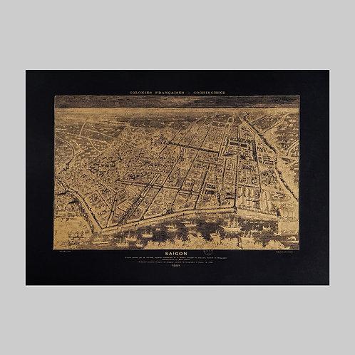 Saigon 1881 - Exclusive Gold Map