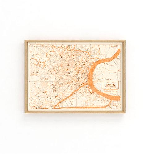 Saigon 1946 - Orange Map A3
