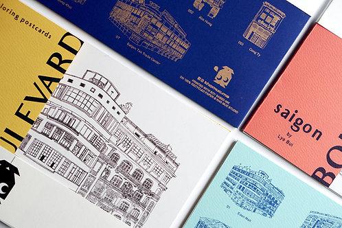 SGB Coloring Postcard Set