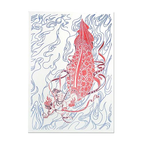 KM Squid Print Dat Phan