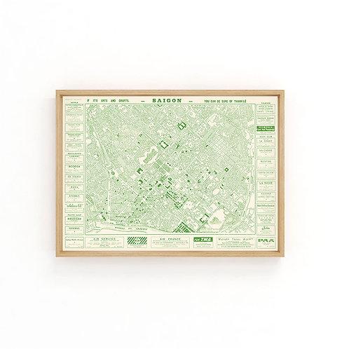 Saigon 1960 - Green Map A3