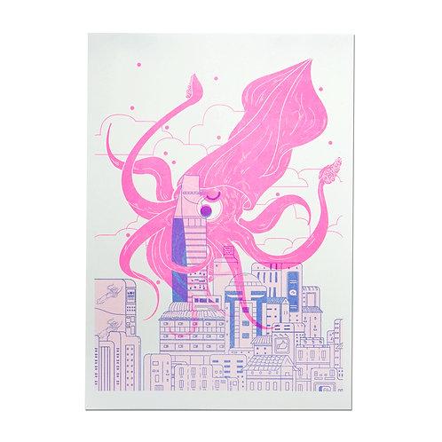 KM Squid Print Kin Tran