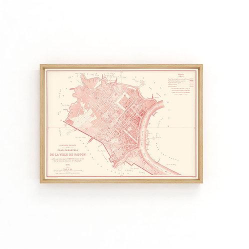 Saigon 1898 - Red Map A3
