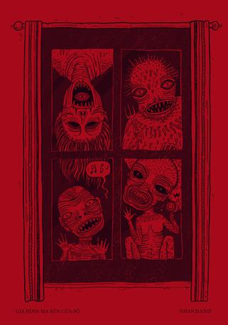 Gia Đình Ma Bên Cửa Sổ (Ghost Family outside the Windows)