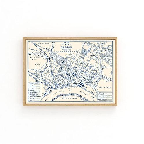 Saigon 1896 - Blue Map A3