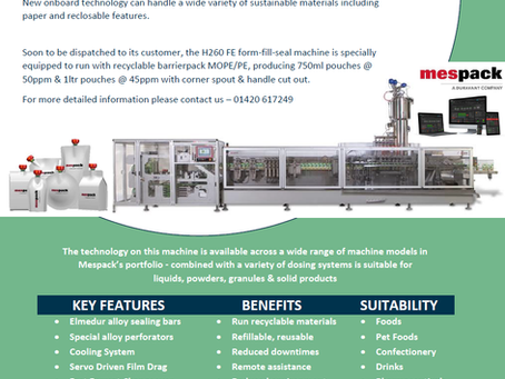 New machine, new technology for a new sustainable future
