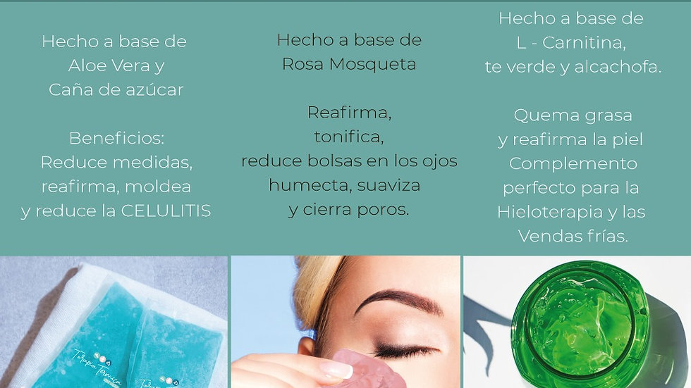 Kit Hieloterapia Facial, corporal, gel reductivo