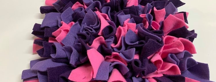 Snuffle Mats - pink and purple