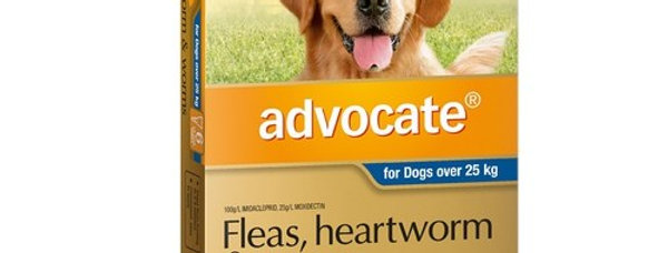 Bayer - Advocate-  25kg+ 6PK - Flea, Heartworm and Worms