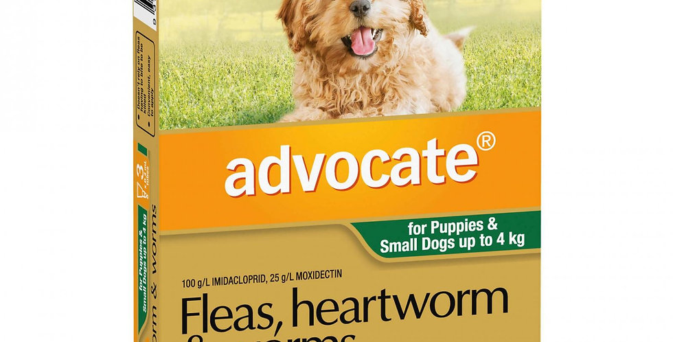Advocate Flea, Heartworm and Worms Puppy-4kg 3PK