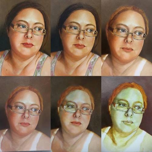 Verdaccio Method of Portraiture