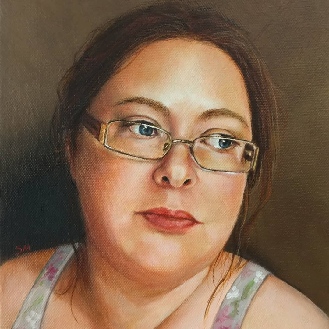 Self-Portrait 8x10 Oil on Canvas