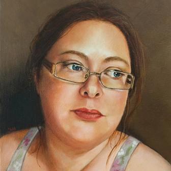Self-Portrait 8x10 Oil on Canvas