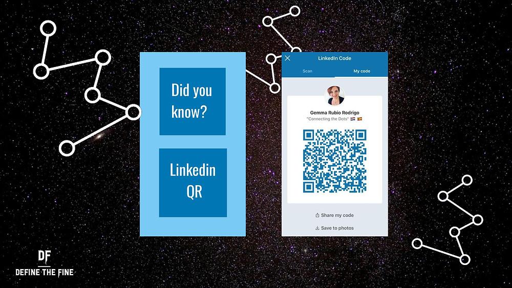 QR on Linkedin app