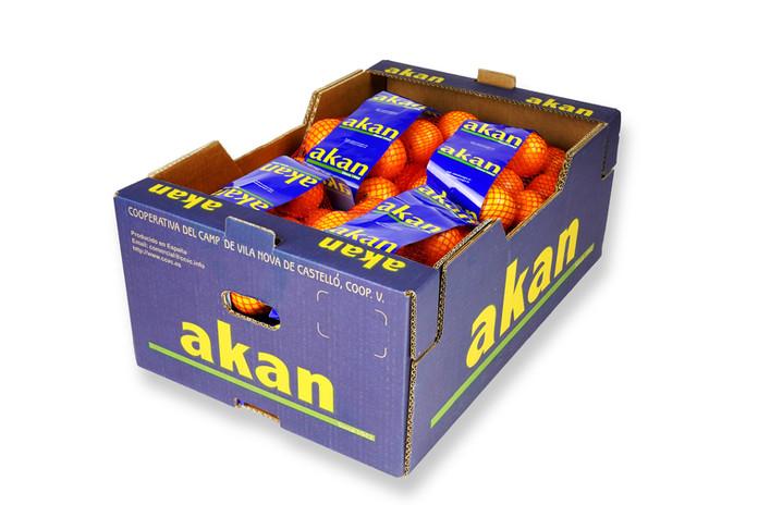 Naranja Akan encajado malla 20Kg