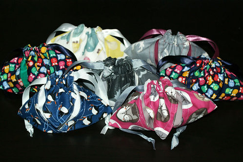 Funky animals dice bags